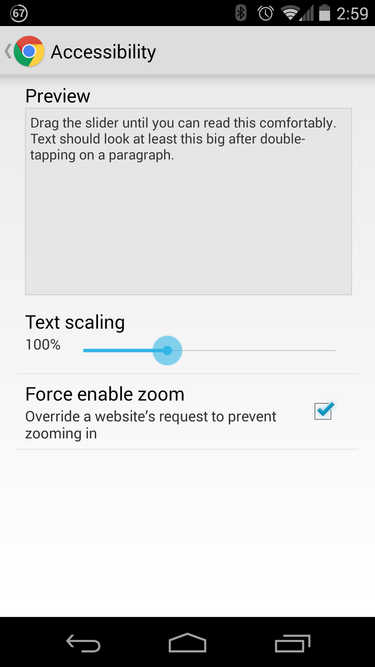 chrome force enable zoom