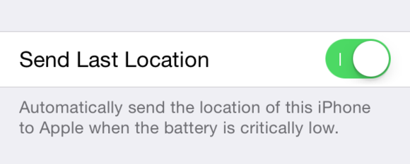 ios8 settings find my iphone