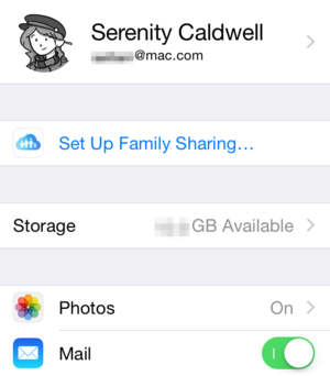 ios8 settings icloud