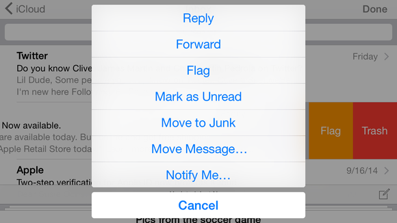 mail ios8 more