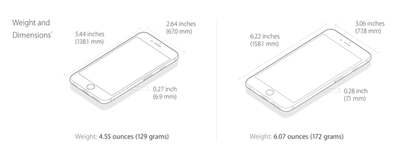 new iphone weight
