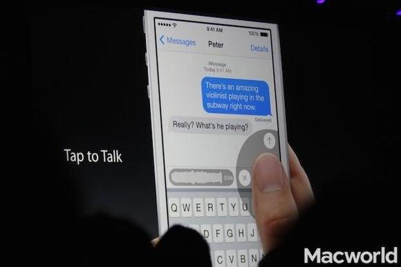 tap to talk ios 8