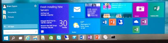windows 10 start menu long