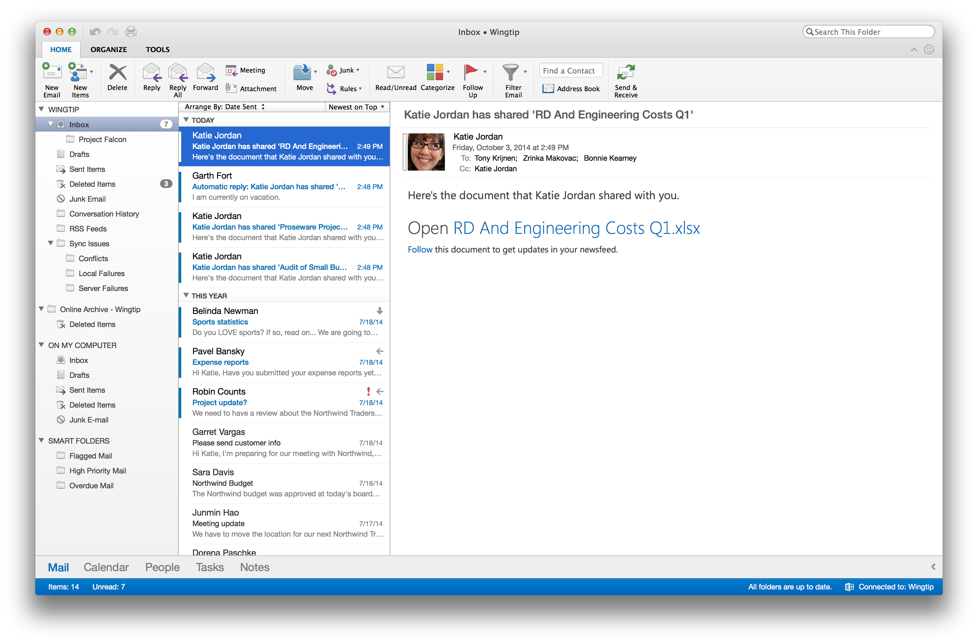 Microsoft says new Office for Mac due in 2015, unveils new Outlook app ...