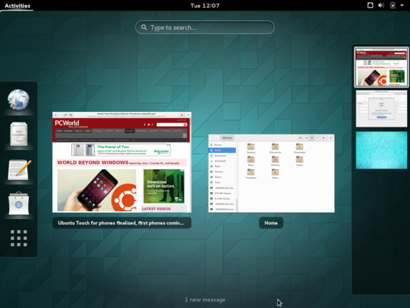 1 gnome shell activities overview