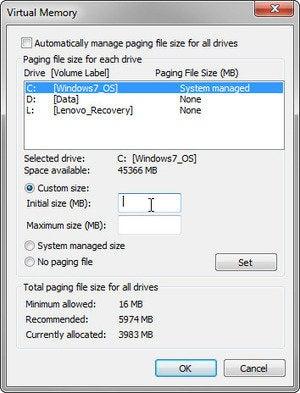 1124 change virtual memory 4