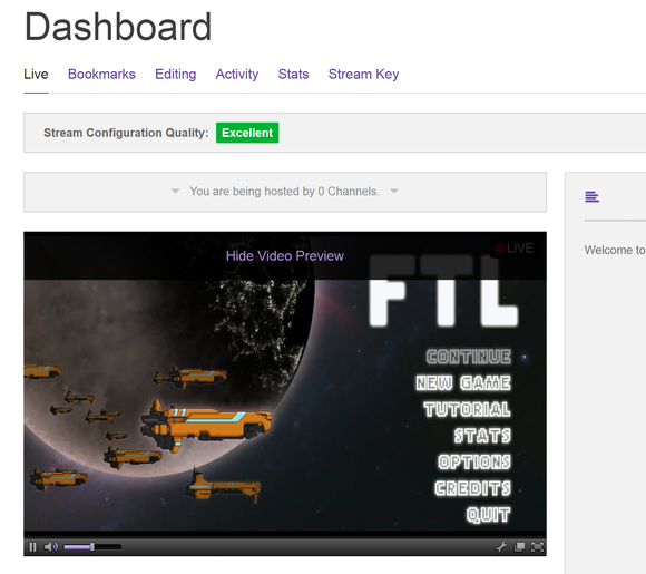 6 dashboard with stream