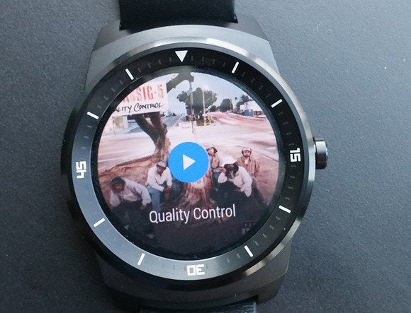 android wear play music track interface