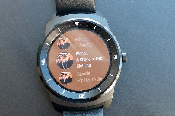 android wear track list