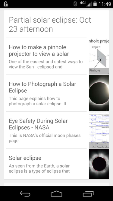 google now solar eclipse