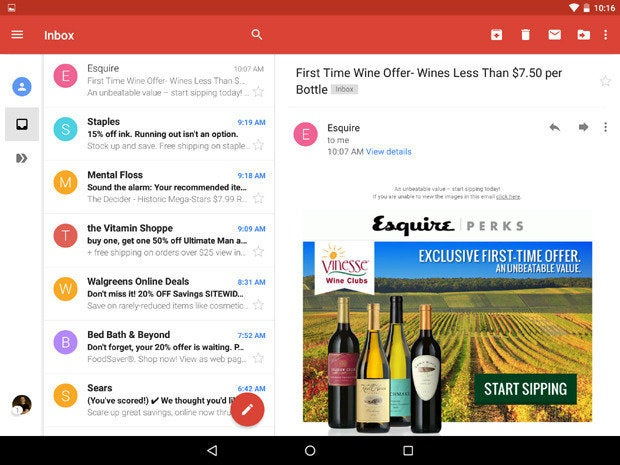 New Gmail App Android Lollipop Landscape (1)