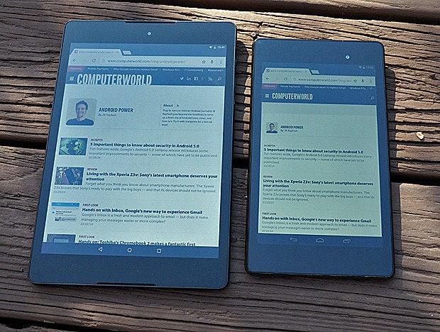 Nexus 9 vs Nexus 7 (front)