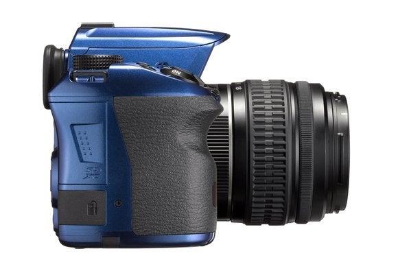 pentax k50 blue side