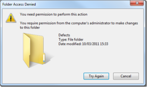 windows permissions screen