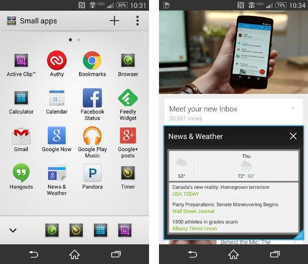 Sony Xperia Z3v Small Apps