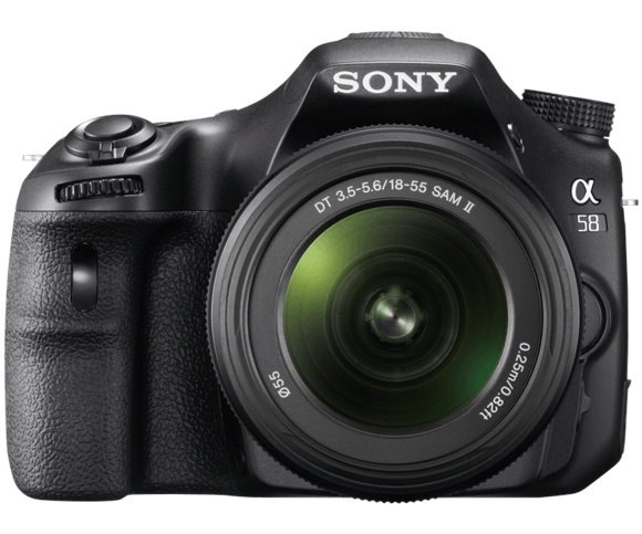 sony alpha a85 front