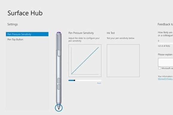 surface hub config screen