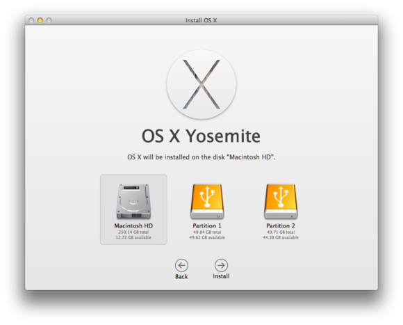 yosemite choose volume