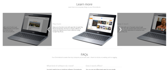 chromebook landing page amazon