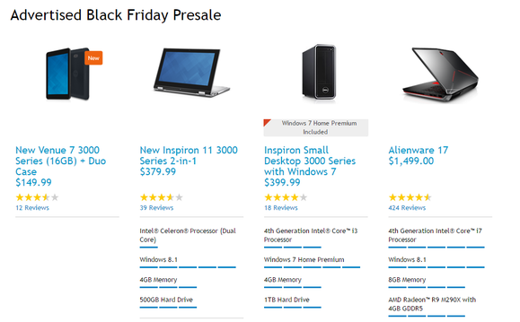 dell pre black friday