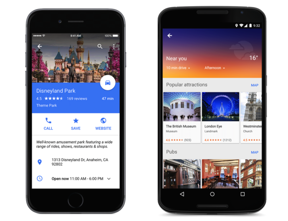 google maps material design disneyland