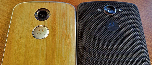 Moto X vs Droid Turbo (back)
