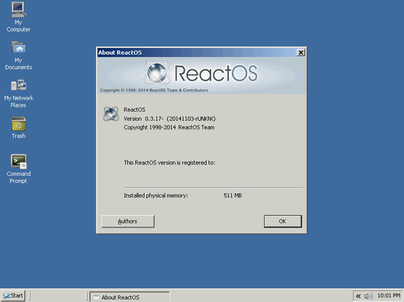 reactos 0.3.17 about