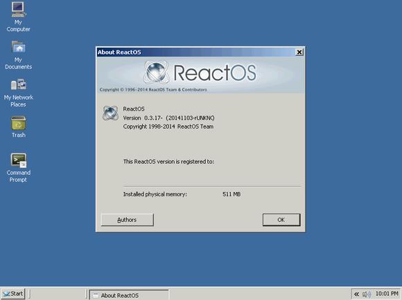 reactos 0.3.17 about