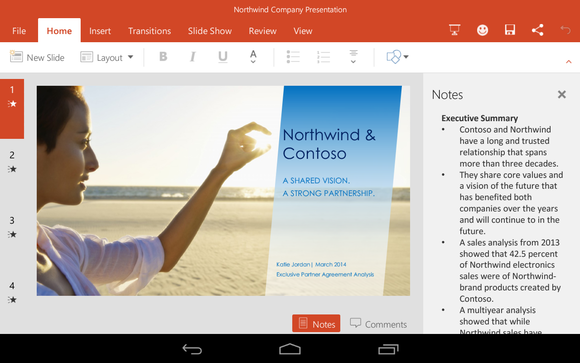 Office for Android Microsoft PowerPoint