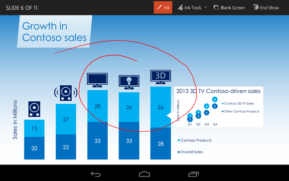 Office for Android Microsoft PowerPoint presentation