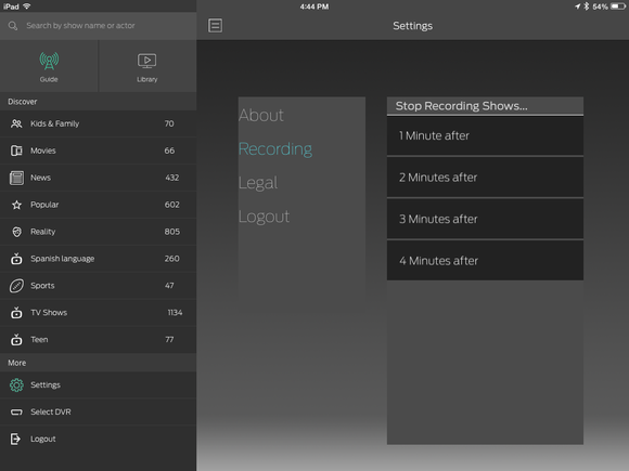 simple tv 2 settings on ipad