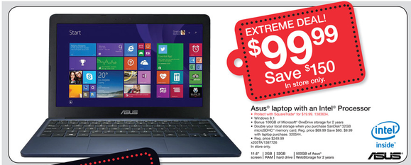 staples black friday asus