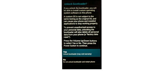 Unlock bootloader tablet screen