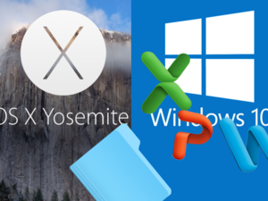 Share osx yosemite files with windows 10