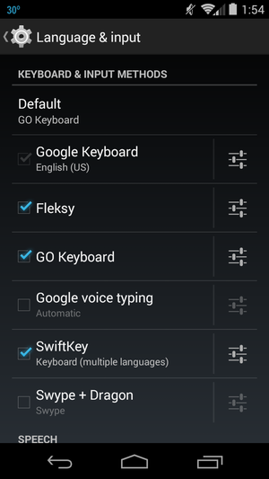 android phones swap keypads