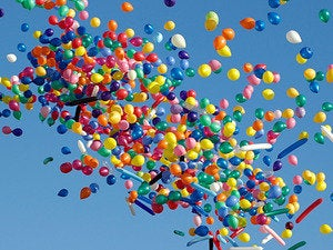 balloons in sky celebration party