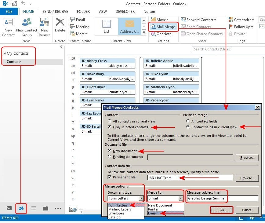 This is not spam: How to create bulk emails in Microsoft Outlook 2013 | PCWorld