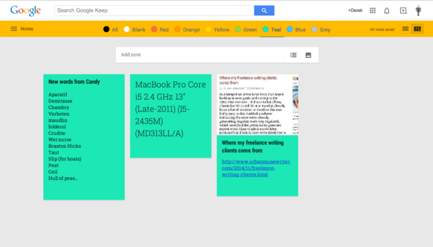 google keep plugin chrome