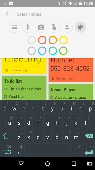 google keep search android