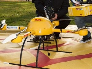 package copter microdrones dhl