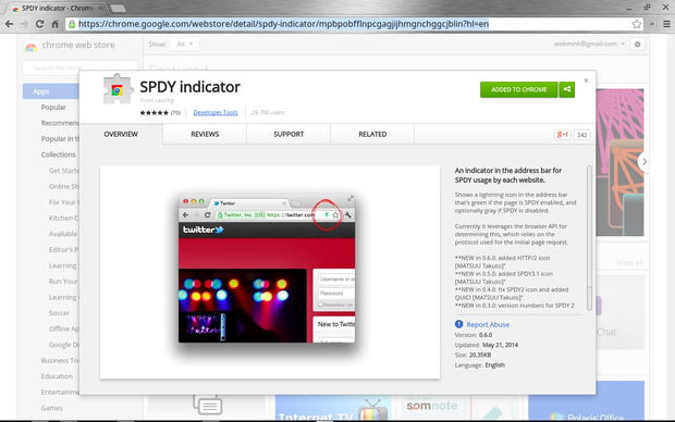 SPDY Indicator for Chrome
