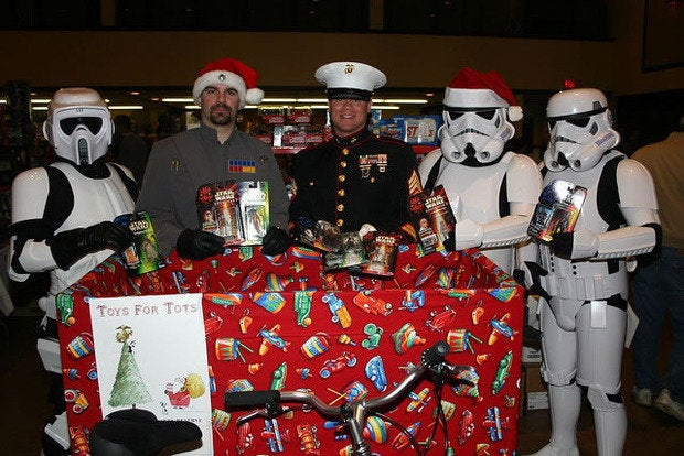 Display Toys For Tots : Despite surveillance cams sons of grinches steal toys for