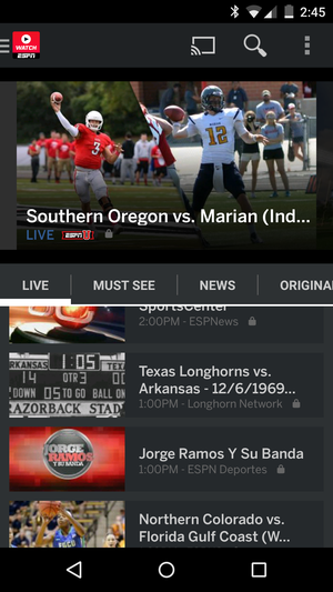 watch espn android
