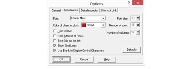 XVI32 options
