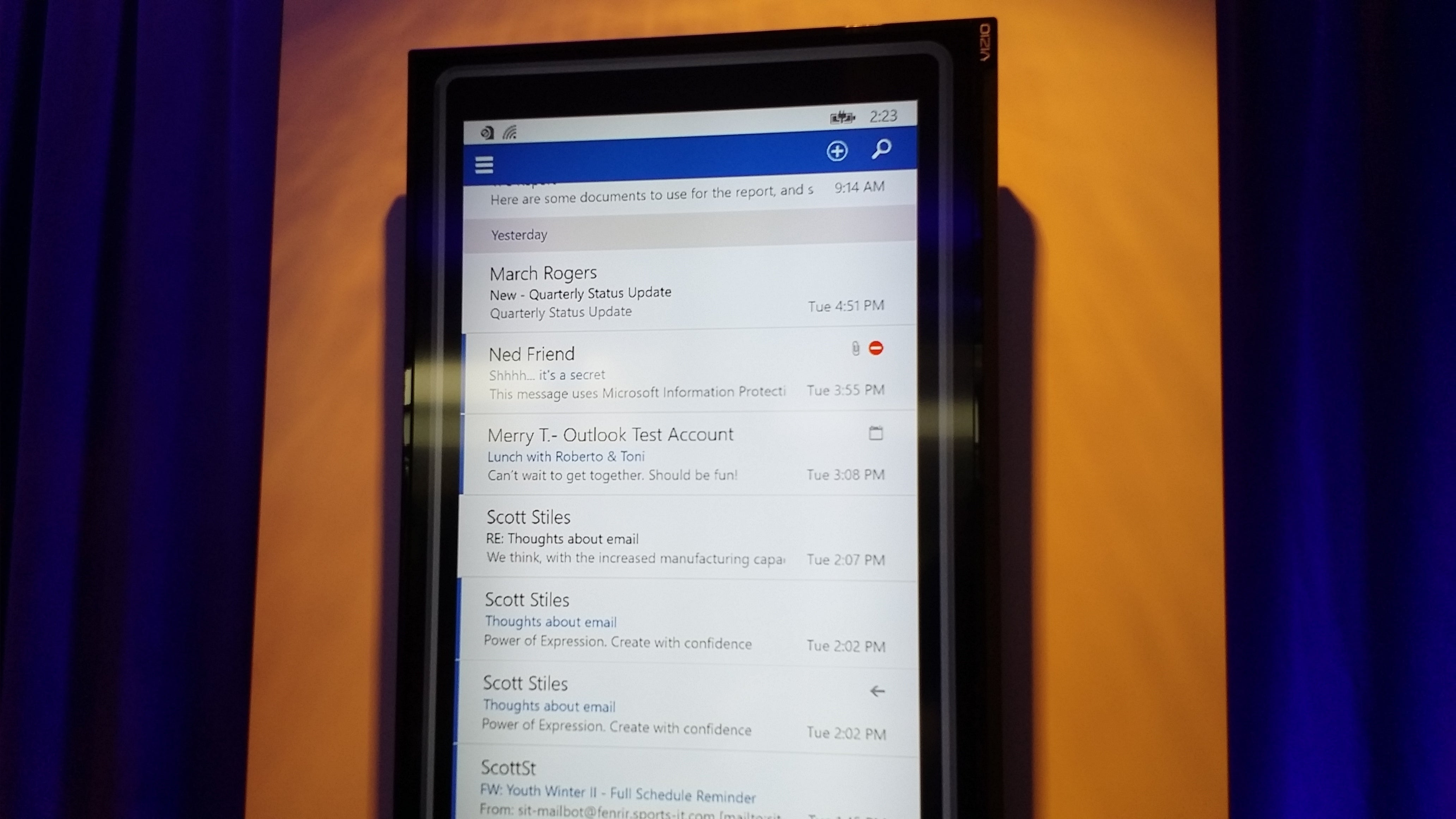 how to change timezone in outlook app