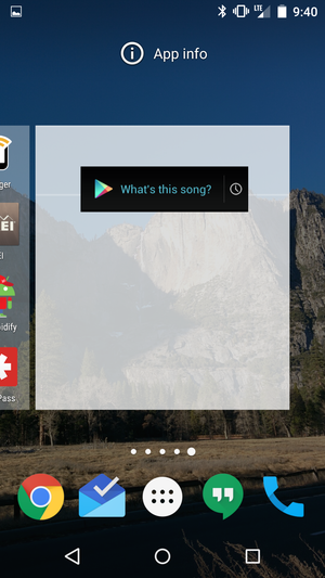 android sound search widget