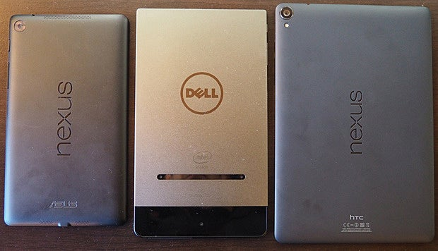 Dell Venue 8 7000, Nexus 7, Nexus 9