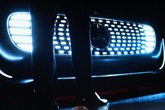 mercedes benz f015 self driving car headlights