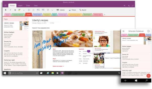 OneNote for Windows 10
