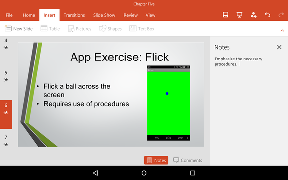 powerpoint android notes